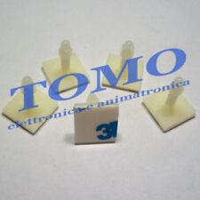 5 Distanziale con adesivo 3M plastico PCB circuiti stampati 10mm c.FIXFSS10