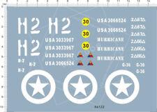 C.X. 1/16 1/18 Scale WWII us sherman tank h2 Model Kit Water Decal 64122 14X10cm
