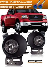 For 2006 2007 2008 Ford F150 Clear Replacement Fog Lights Housing Assembly + LED