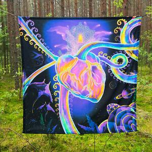Psychedelic Painting Art Visionary UV Fluorescent Glow Psytrip Psyart Backdrop