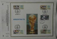 Feuillet CEF n°109 Coupe du monde de football Argentina'78 -Tiré en 1830 ex.