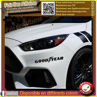 lot 2 stickers autocollant Goodyear sponsor tuning auto moto decal