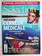 SÉLECTION DU READER'S DIGEST DE AOÛT 2004, EN COUVERTURE ELVIS