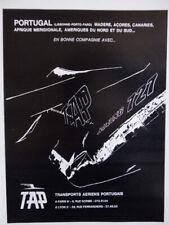 5/1969 PUB TAP TRANSPORTS AERIENS PORTUGAIS BOEING 727 ORIGINAL FRENCH AD