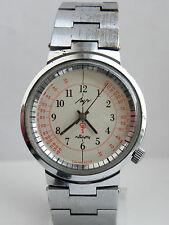 Extremely rare LUCH Medical Doctors Soviet watch QUARTZ Pulsemeter Orig.Bracelet