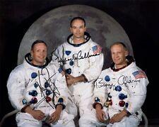 Apollo 11: Neil Armstrong, Buzz Aldrin, Michael Collins, repro-autographe 20x25cm