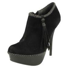 Zapatos de tacón de mujer plataformas Spot On color principal negro
