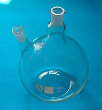 5000ml,24/40,2-neck,Flat Bottom,Glass Flask,5L,Twins Necks,Lab Chemistry Vessel