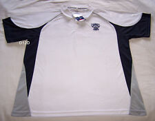 Geelong Cats AFL Mens White Premium Short Sleeve Polo Shirt Size M New