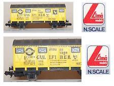 LIMA 320409 CARRO MERCI 22Ton TRASPORTO BIRRA GULLFIBER SJ 530434 SVEZIA SCALA-N