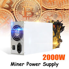 8GPU 2200W Mining Power Supply 24+8-Pin For ETH Coin Miner SATA IDE Ethereum US