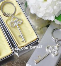 12 KEY CHAIN PARTY FAVORS BRIDAL WEDDING SILVER MIS 15 Recuerdos De Quinceanera