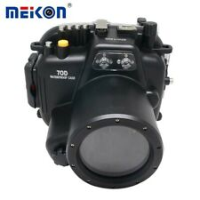 Meikon 40m/130ft Waterproof Underwater Camera Housing for Canon EOS 70D 18-135mm