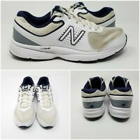 New Balance 411 White Mesh Low Leather Running Sneaker Shoes Mens Sz 10.5