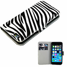 """Credit Card Leather Pocket Flip Cover Case Stand For Apple iPhone 6 6S 4.7"""""""