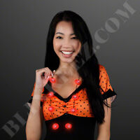 LITTLE Pumpkin Charms LED Flashing Necklace -HALLOWEEN Light Up Fun!