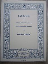 Fantaisie for Cornet or Trumpet in Bb and piano by Thome*NEW* Leduc