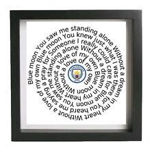 man city manchester ethiad maine road citizens blue moon framed retro print