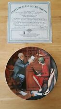"Norman Rockwell Collectors Plate ""The Professor"" Heritage Collection"