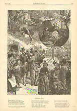 Primrose Day, Flowers, Holiday, Celebration, Vintage, 1889 Antique Art, Print,