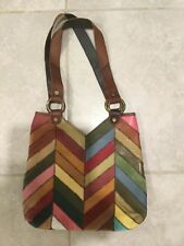 NEW! LUCKY BRAND LEATHER PATCHWORKS LARGE TOTE BAG PURSE