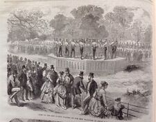 Band Of The Life Guards Playing On The New Platform, Antique Print 1869 Original