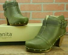 *Sanita Women's Olive Owl Boots Size Euro 36 / US 5.5 M Buckle New In Box Clogs