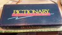 Pictionary Complete Classic Game Of Quick Draw 90's edition complete open box
