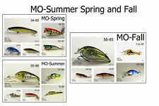 New listing Akuna Seasonal Lures for Bass Fishing for Missouri, 15 Lures *New Free Shipping*