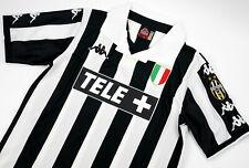 JUVENTUS HOME RETRO SHIRT 1998-99 TELE+, ZIDANE, DEL PIERO, DAVIDS, S M L XL