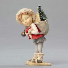 Enesco/The Heart of Christmas  by Karen Hahn  Elf on Snow Shoes  NIB #4052771