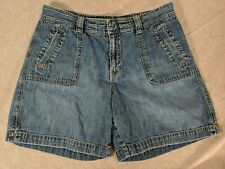 OLD NAVY Women's Medium Wash Low Rise Jean Shorts size 8