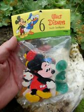 RARE german Walt Disney handpainted Figures with stands in Bag - 1950-60s HEIMO