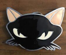 BLACK CAT BELT BUCKLE KITTY LUCK BUCKLES