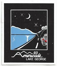 "Americade 1993 Lake George NY Night Under Stars Decal Sticker 2.5"" x 3.25"""