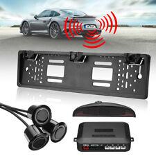 Wireless Car Rear Number Plate Frame & 3 Reversing Parking Sensor System Kit UK