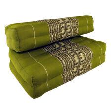 Double Fold Meditation Cushion-  Green Elephant