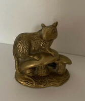 Vintage Solid Brass Doormouse Ornament