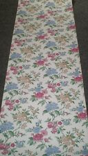 Vintage Pink, Blue & Light Brown Floral on Off White by Vymura  25-201