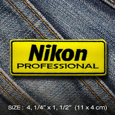Nikon PATCH IRON ON Clothes Jacket Denim Hat Cap Bag Professional Camera Photo