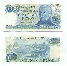 ARGENTINA NOTE 5000 PESOS (1977) CAMPS-DIZ B# 2464 SERIAL A P 305a XF
