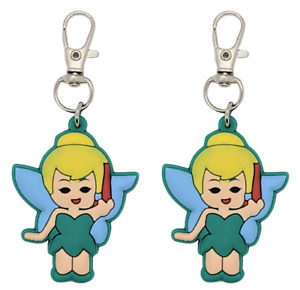 Tinkerbell Collar Charm Zipper Pull Badge Reel or Purse Accent Set of 2