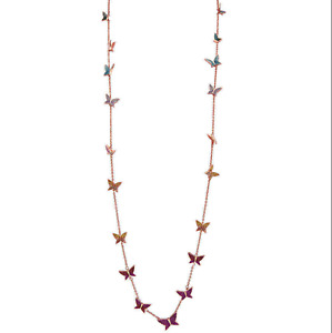 Swarovski Lilia Strandage Multi-colored Butterfly Necklace 5374335
