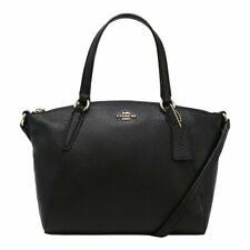 Coach F28994 IMBLK Mini Kelsey Black Pebble Leather Satchel Handbag BRAND NEW