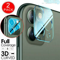 2PCS Case For iPhone 11 Pro Max 9D Tempered Glass Camera Lens Screen Protector