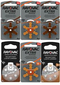 Rayovac Hörgeräte Batterien Knopfzellen 312 13 13A 13AE V312A DA312 312A