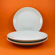 IROQUOIS * Russel Wright * CASUAL   WHITE Dinner Plates * Set of 3