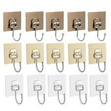 15pcs Punch Free Useful Lightweight Door Back Hooks Hooks for Office  Bathroom