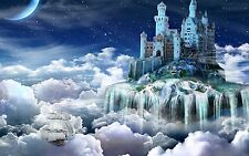 Adult Jigsaw Puzzle Fantasy Fairy Tale Castle In The Clouds World 1000-Pieces