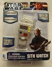 Star Wars Spyware SITH WATCH Motion Sensor LCD Sounds Lites 2011 MIP